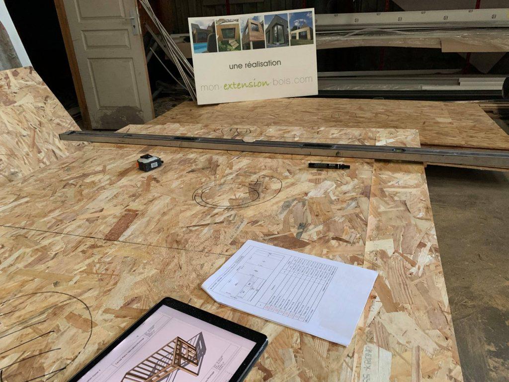 préparation extension en ossature bois ou dépendance en ossature bois