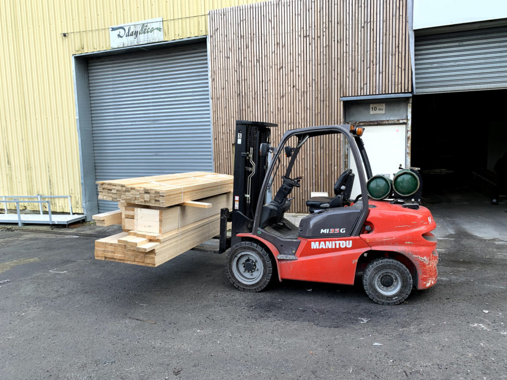 transport de l extension ou la dépendance en bois