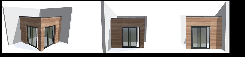 modélisation 3D kit extension ossature bois