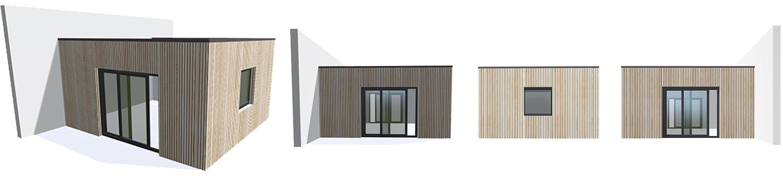 modelisation 3D mon extension bois