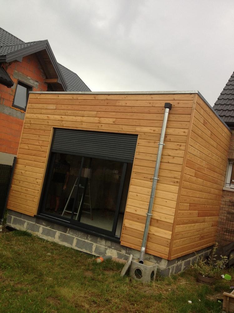 Garage en bois avec mon extension bois